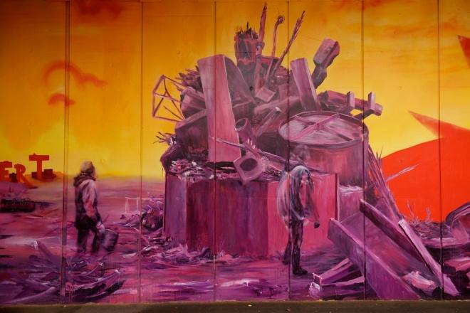 Grafitti vid återvinningscentralen i Köpenhamn